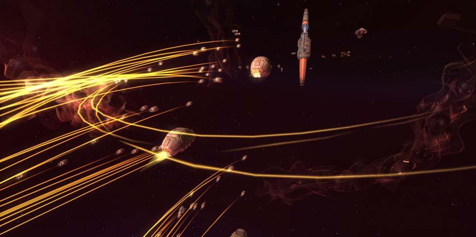 Mirad, es la famosa nave nodriza con forma de plátano del HomeWorld original!