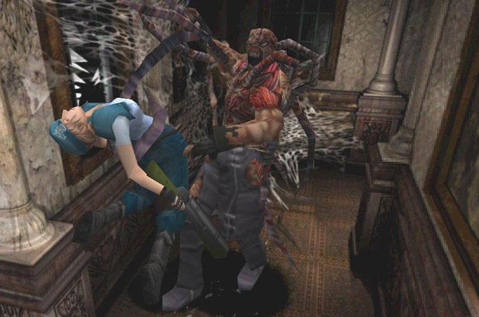 Durante las noches de Racoon City, Nemesis prepara su danza para atraer y cortejar a las hembras, que agarrándolas firmemente con sus tentáculos superiores, va preparando poco a poco la posición para el coito. ¿Podrá Jill abortar? Me pregunto...