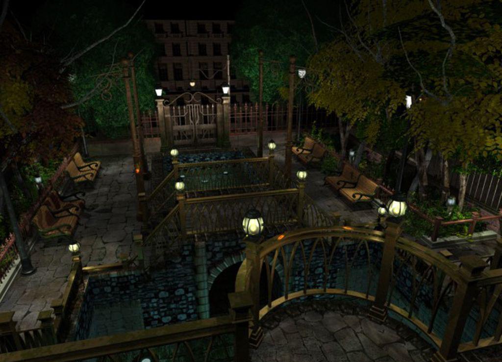 Recorrer estos solitarios parques por la noche no puede ser bueno; y más si tenemos en cuenta el tema de la infección zombie.