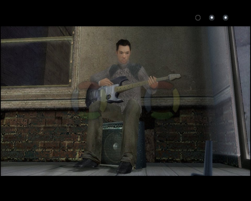 Tocar una guitarra a ritmo de QTE... o mejor dicho, a falta de ritmo. Los minijuegos mal llevados a cabo abundan.
