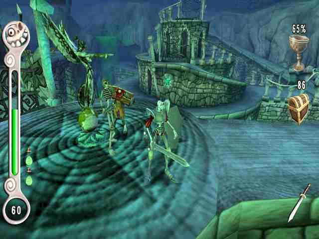 Medievil Resurrection Jarcors: Hasta la estatua se ría de la torpeza de Dan.