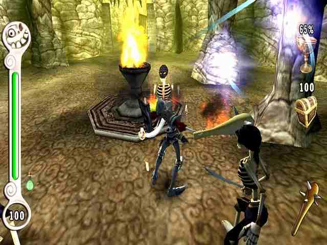 Medievil Resurrection Jarcors: Tendremos que combinar el fuego con algunas de nuestras armas para resolver algunos puzzles.
