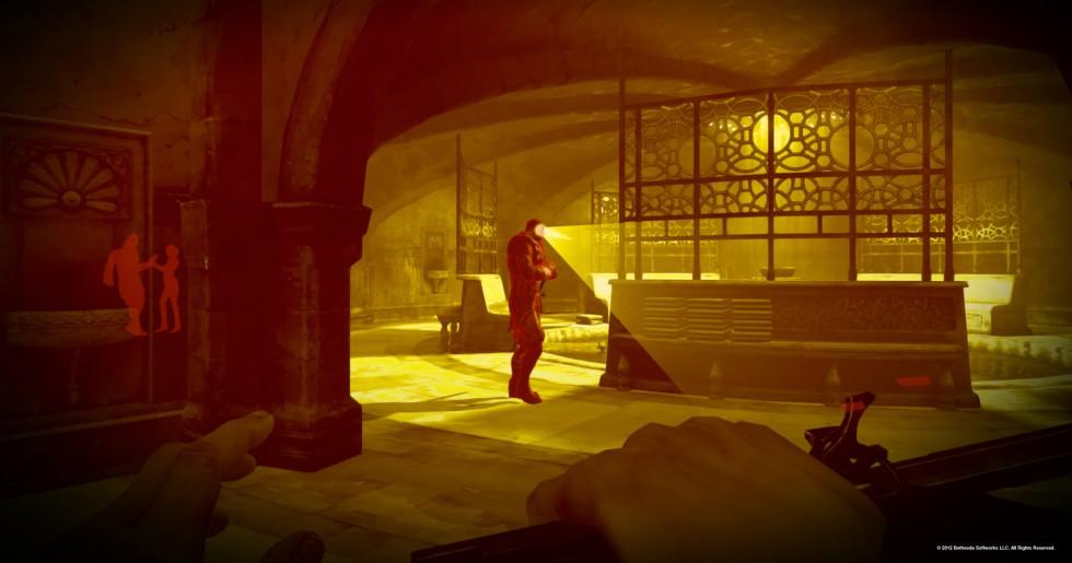 Haciendo uso de la visión oscura podremos ver a través de las paredes y saber el campo de visión de los guardias.