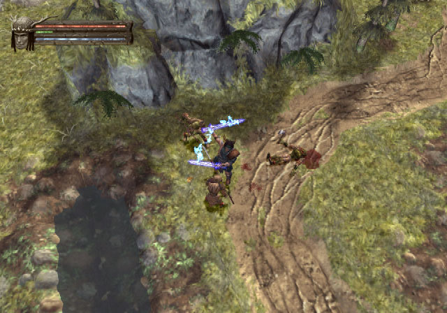 Dorn tiene un poder de ataque descomunal cuando lleva dos espadas.