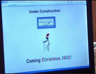 """Sí, la página web de Dunder Mifflin también se le encargó a un amigo o familiar que """"controlaba""""."""