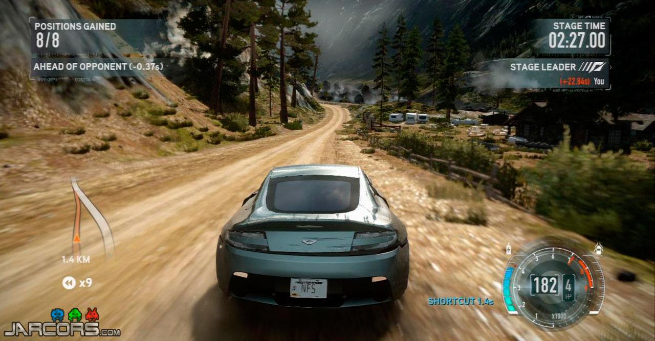 Una sensación de espanto me invadió cuando vi las fases en línea recta de Need for Speed: Pro Street en las que vamos siempre con el nitroso a velocidades extremas. Pues bien, aquí también las hay.