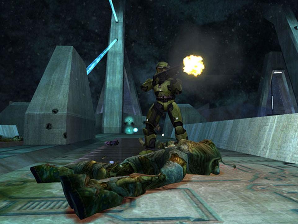 Un Flood muerto en el único puente clónico que veremos a lo largo del juego.