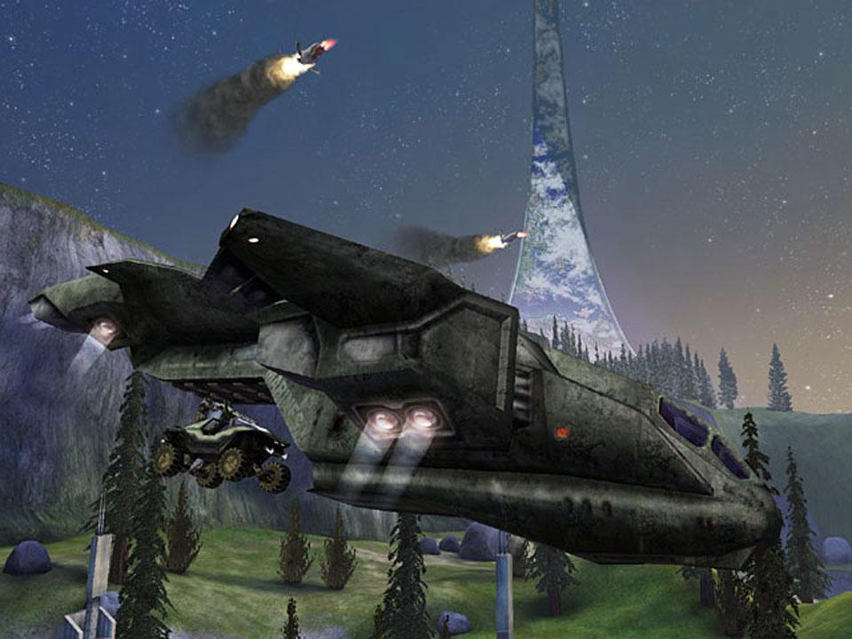 Ver a las naves humanas o a las de los Covenant desplegar enemigos es espectacular.