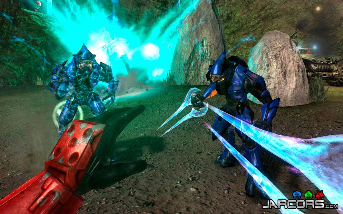 Podemos utilizar la poderosa espada de energía con la que los Elites nos acosaban en Halo: Combat evolved.