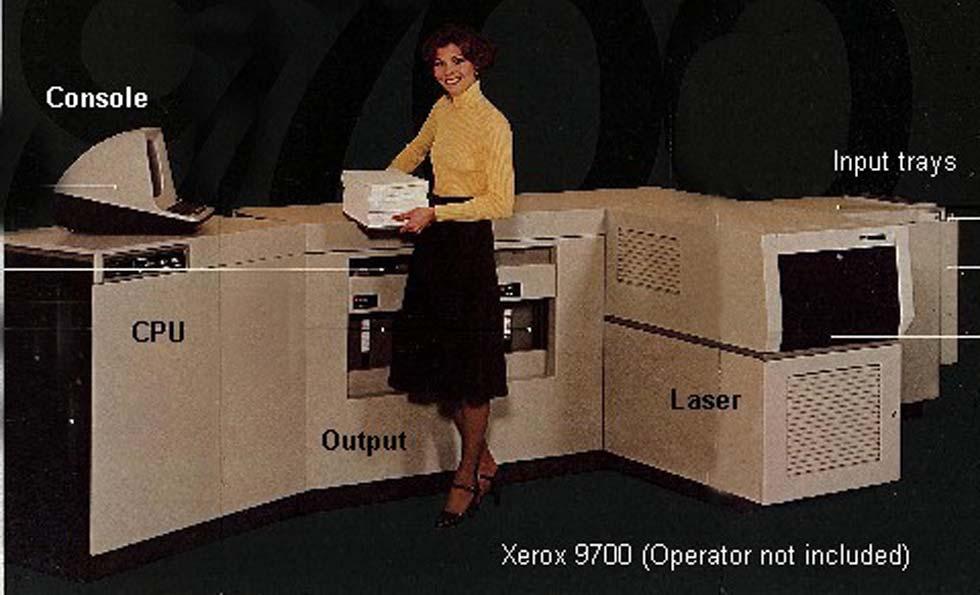 La Xerox 9700.