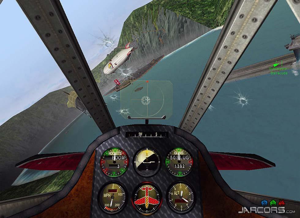 La vista desde la cabina (cockpit o pollagujero), transmite bastante.