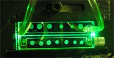 Detector óptico láser.