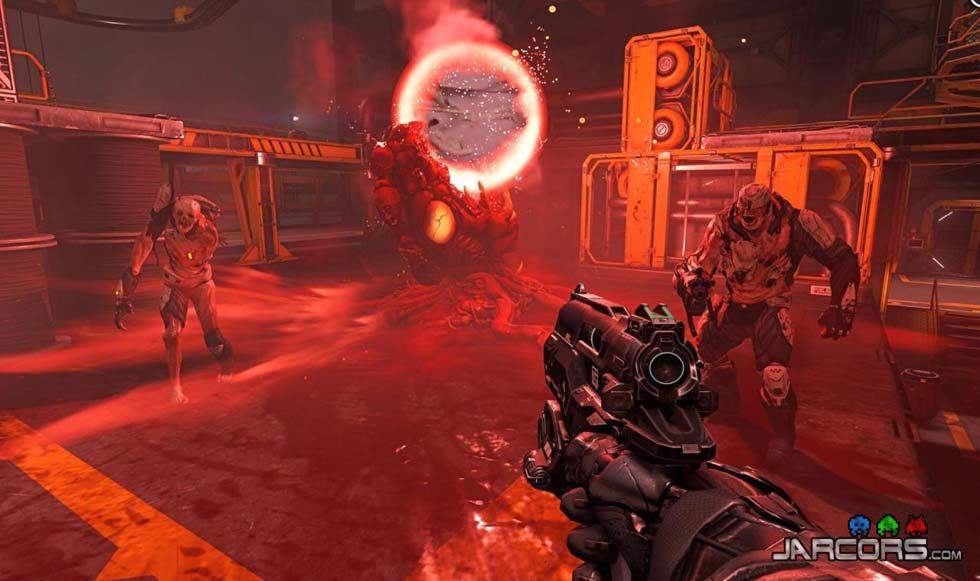 Observando la captura de pantalla podemos deducir tres cosas. Que será posible mutilar a nuestros enemigos, que habrá portales y que tendremos una pistola muy chula.