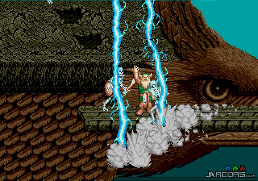 Viajaremos por lugares fantásticos, como por ejemplo, a lomos de un águila gigante. En la imagen, Gilius usa su magia.