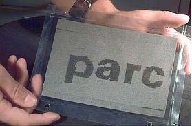 Prototipo del papel electrónico reutilizable.