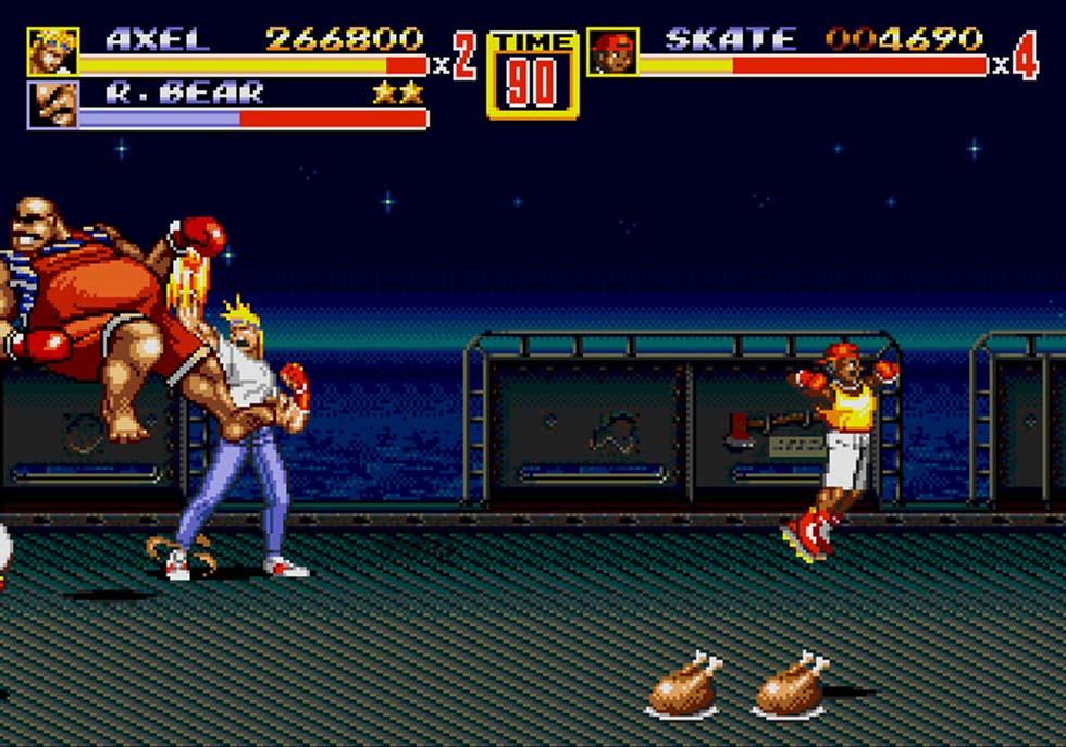 """Podemos pasarnos el juego realizando exclusivamente el """"bare knuckle"""" de Axel, que curiosamente es el nombre con el que se vendió el juego en Japón; Bare Knuckle 2."""