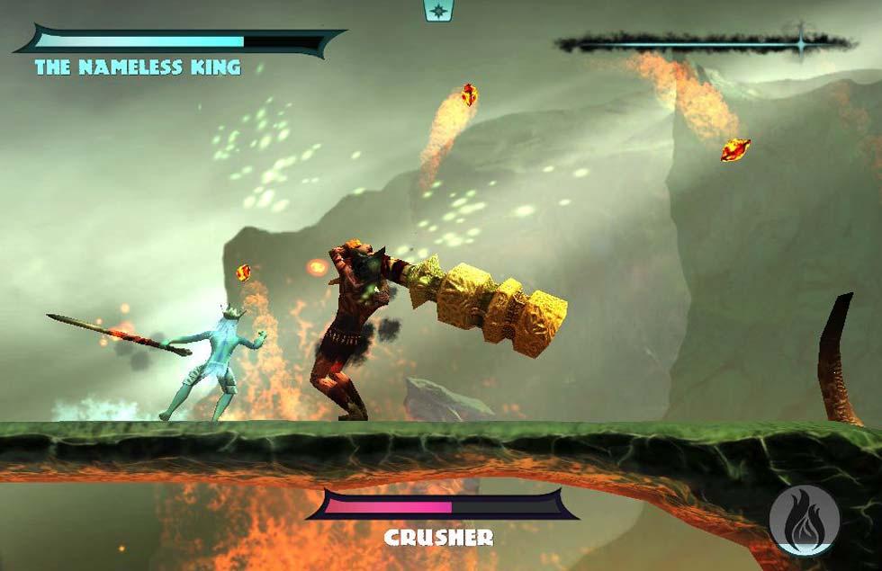 En la imagen, el rey sin nombre parándose a echar un bailecito durante los primero niveles debido a la escasa dificultad del juego.